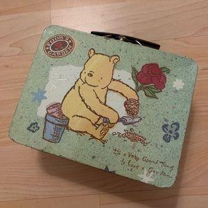 Winnie the Pooh Garden Vintage lunch box